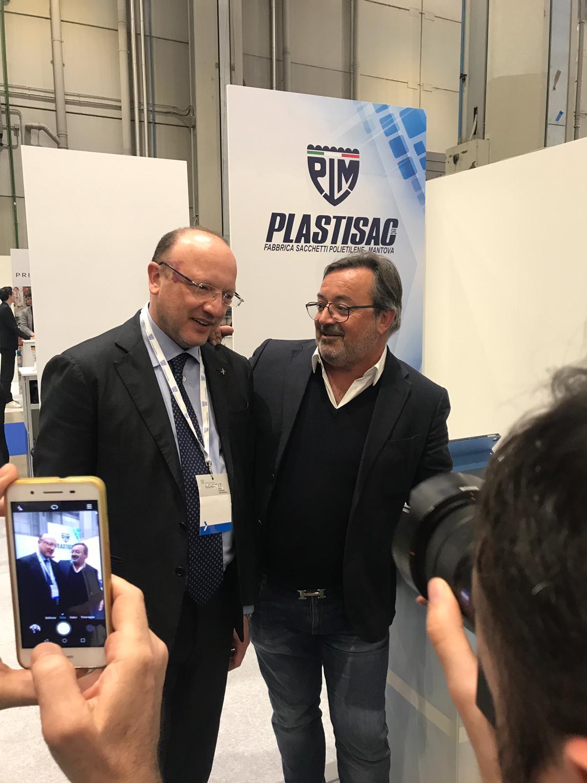 Vincenzo Boccia e Mauro Bergamaschi durante Connext