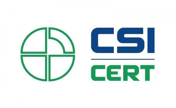Marchio ente certificatore CSI - CERT