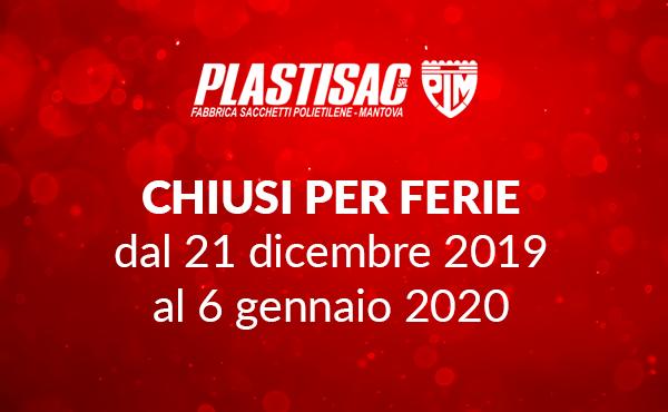 Chiusura per festività natalizie 2019