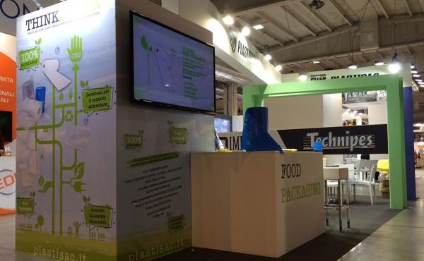 Il packaging green di Plastisac rappresentato dallo stand di Cibus Tec 2019