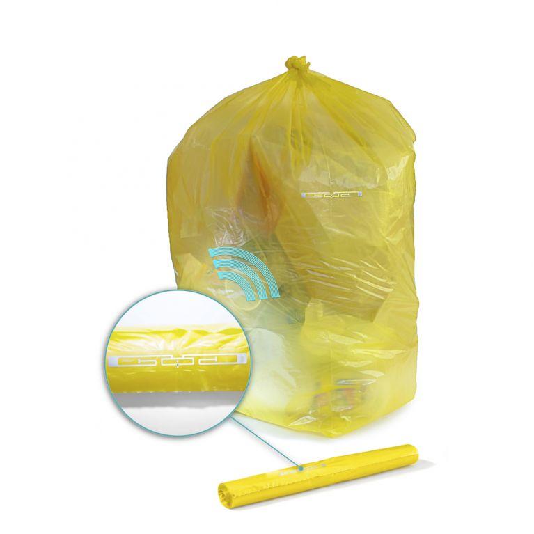 Sacchi in polietilene per rifiuti con TAG-Rfid